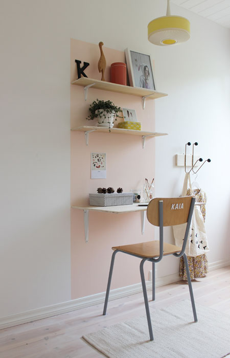Hjemme hos Møbelpøbel og familien er det lyse pasteller som gjelder.