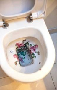 GJØDSLER ROSER: Toalettskålen her i huset er ikke som andre toalettskåler. FOTO: JAN M. LILLEBØ