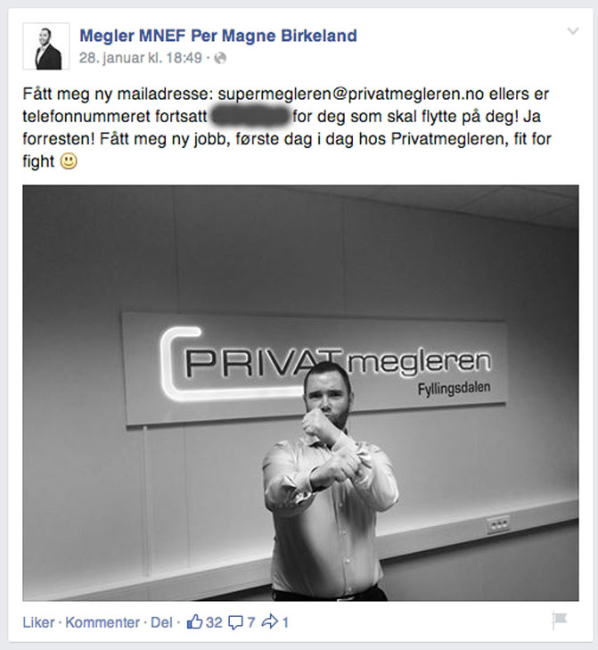 Skjermdump: Facebook