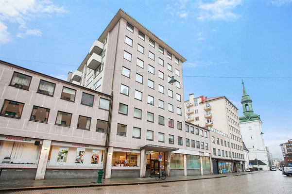 I syvende etasje i dette bygget var det mange som ville bo. FOTO: DNB Eiendom