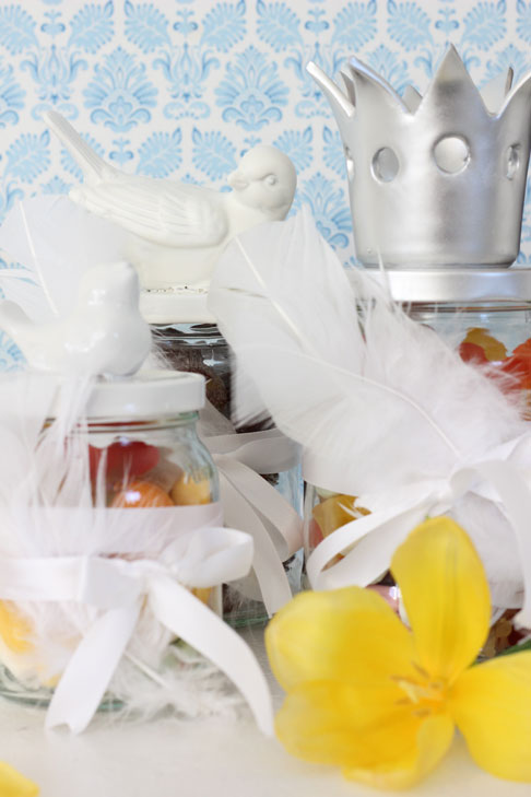 GOD PÅSKE: I år kom påskeharen til familien Andersen med påskeglass. FOTO: Stina Andersen / Fru Andersen