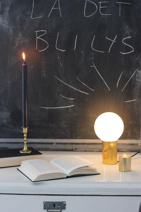 FIKS FERDIG: Jeg er storfornøyd med den nye lampen! FOTO: Stina Andersen / Fru Andersen