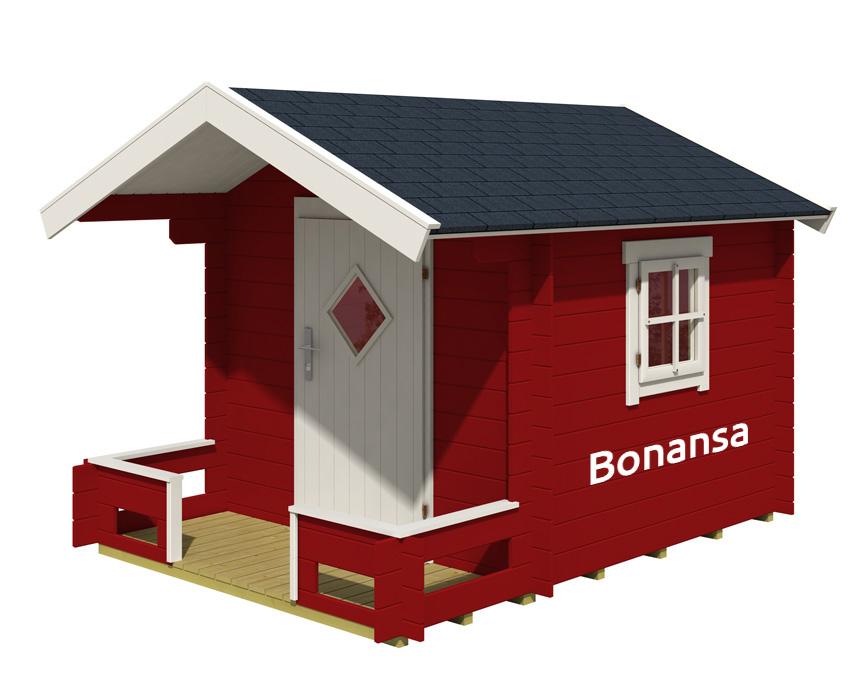 PREMIE: Har du lyst på et lekehus? Da må du tegne drømmehuset ditt - og sende det til oss. Premien er lekehuset på bildet. Det har en verdi på 10.000 kroner.