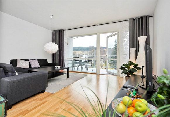 GOD PLASS: Kvadratmeterprisen for denne leiligheten ligger på 30.723 kroner. FOTO: Baste Bolstad, Proaktiv