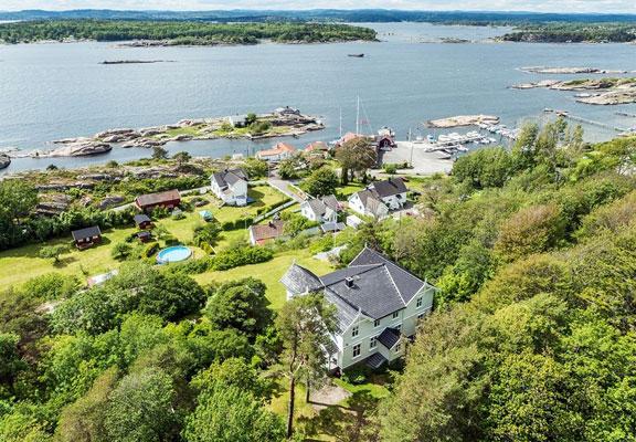 """57 MÅL: Langvikveien 72 rommer """"Baldershage"""" og eiendommens 57 mål og fire bruksnumre. FOTO: Nordvik & Partners"""