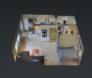 3D-VISNING: Fra dette bildet kan du zoome deg rundt i den 38 kvardatmeter store leiligheten.