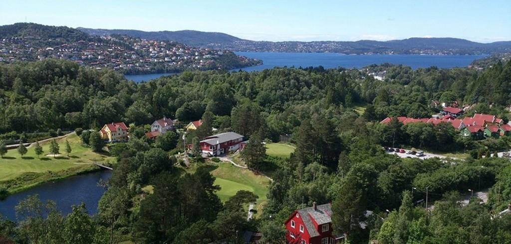 UTSIKT: Dette er utsikten fra penthouseleiligheten i Åsane. FOTO: Gravdal Bustadprosjekt AS