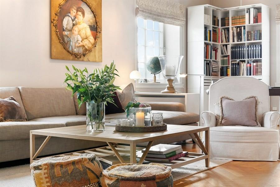 INTERIØRINTERESSERT: Konen til Didrik T. Martens, Manuela, jobber med interiørdesign. Det er hun som har innredet boligen. FOTO: Privatmegleren Vikebø & Jørgensen